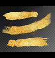gold paint strips vector image vector image