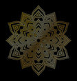 golden mandala flower vector image