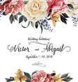 Greeting card with roses watercolor can be used as vector image vector image