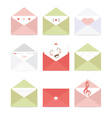 greeting envelopes with different messages vector image vector image