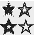 Grunge stars black and white collection vector image vector image
