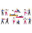 gym coach personal workout fitness trainer vector image vector image