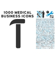 Hammer Icon with 1000 Medical Business Pictograms vector image vector image
