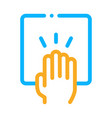 hand clapping icon outline vector image