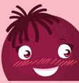 happy emoticon kawaii character vector image vector image