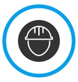 Helmet Circle Icon vector image