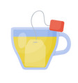 herbal tea flat icon vector image