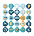 icons flat line ui connection vector image vector image