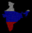 india map in russian colors vector image