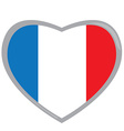 Isolated French flag vector image vector image
