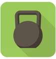 Kettlebell icon vector image