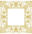Linear simple frame with gold lines vector image vector image