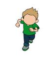 little cute boy cartoon adorable image vector image