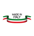 Made in Italy symbol colored ribbon vector image vector image
