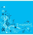 Music doodle background vector image vector image