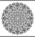 ornament circular mandala black white ornamental vector image vector image