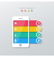 paper smartphone infographics vector image vector image