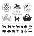 pets cats and dogs logo vector image