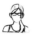 portrait woman sport concept wearing smart glasses vector image