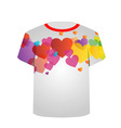 Printable tshirt graphic- Heart tee vector image vector image