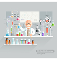 Professor Working on Medical Laboratory vector image vector image
