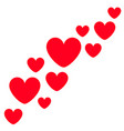 red heart icon set moving happy valentines day vector image vector image