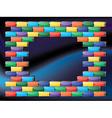 Retro gaming frame vector image