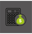 sack money with calculator financial vector image