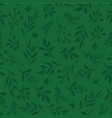 seamless background abstract leaves green vector image vector image