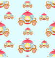 seamless pattern princess carriage vector image