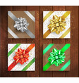set gift boxes - christmas and birthday giftbox vector image