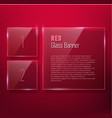 Set of glass banners for your design vector image vector image