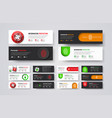 set of horizontal web banners to protect vector image vector image