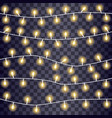 set overlapping glowing string lights on a vector image