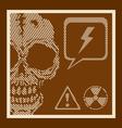 Skull retro vector image