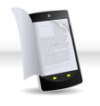 smartphone flipping book vector image