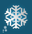snowflake in paper art and craft style for happy vector image vector image