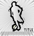 soccer silhouette break through white background vector image vector image