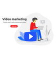 social video marketing concept modern flat design vector image