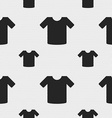 T-shirt Clothes icon sign Seamless pattern with vector image vector image