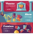 theatre flat banners set vector image