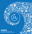 TIME 24 Icon Nice set of beautiful icons twisted vector image