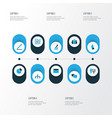 trade icons colored set with employee contract vector image