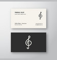 treble clef sign abstract logo and business vector image vector image