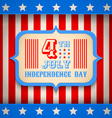 USA banner independence day vector image vector image