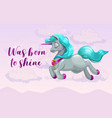 was born to shine cute girlish banner with pretty vector image vector image