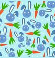 happy adorable rabbit cartoon character face head vector image