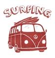 Surf Van t-shirt graphics vector image