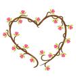 love floral doodle vector image