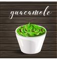 abstract logo ceramic dip bowl filled vector image vector image